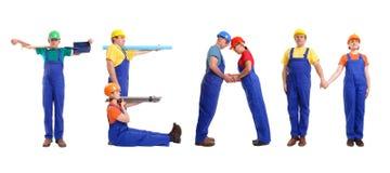 drużyna budowy Zdjęcia Stock