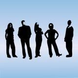 drużyna sylwetki jednostek gospodarczych Zdjęcie Stock