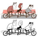 Drużynowa jazda bicykl royalty ilustracja