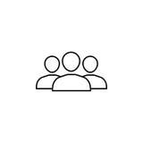 Drużynowa kreskowa ikona Obraz Stock