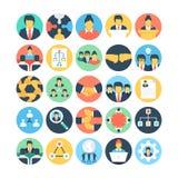 Drużynowe pracy i organizaci Wektorowe ikony 1 Fotografia Stock