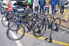 Drużynowi Movistar jaru rasy rowery Zdjęcie Stock