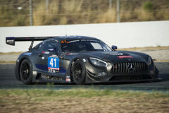 Drużynowy HTP Motorsport Mercedez AMG GT3 24 godziny Barcelona Fotografia Stock