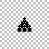 Dru?ynowy ikony mieszkanie ilustracji