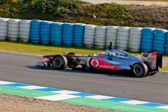Drużynowy McLaren F1, Jenson Button, 2011 Obrazy Royalty Free