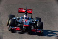 Drużynowy McLaren F1, Jenson Button, 2011 Fotografia Royalty Free