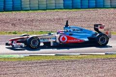 Drużynowy McLaren F1, Jenson Button, 2011 Zdjęcia Royalty Free