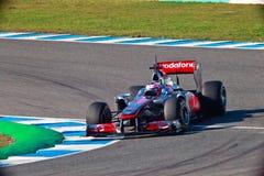Drużynowy McLaren F1, Jenson Button, 2011 Obrazy Stock