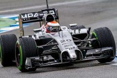 Drużynowy McLaren F1, Kevin Magnussen, 2014 Zdjęcie Stock