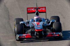 Drużynowy mcLaren F1, Jenson Button, 2011 Obraz Royalty Free