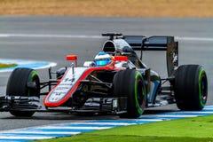 Drużynowy McLaren Honda F1, Fernando Alonso, 2015 Zdjęcia Stock