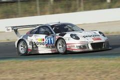 Drużynowy Precote Herberth Motorsport Porsche 991 GT3 R 24 godziny Barcelona Fotografia Stock