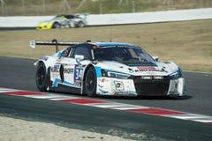 Drużynowy Samochodowy Inkasowy Motorsport audi lms r8 24 godziny Barcelona Zdjęcia Stock