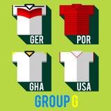 Drużyny futbolowej koszula Obrazy Royalty Free