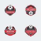 Drużyny futbolowej odznaka Obrazy Royalty Free