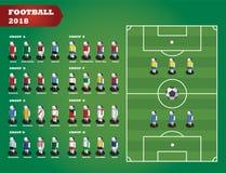 Drużyny Futbolowej taktyka, strategia Ilustracji