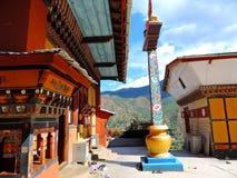Drubthob Goemba Nunnery, Thimphu, Bhutan. Drubthob Goemba monastery also called Zilukha nunnery is located in Thimphu. Zilukha is among the few modern nunneries stock image