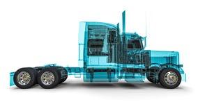 Druciana ramowa amerykanin ciężarówka Zdjęcia Royalty Free
