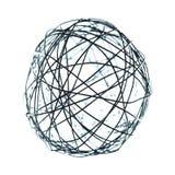 Druciana sfery dekoracja odizolowywająca Obrazy Stock