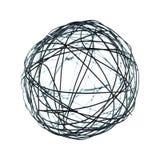 Druciana sfery dekoracja odizolowywająca Fotografia Stock