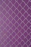 Druciana siatka, żelazny druciany ogrodzenie na ściennych purpurach Fotografia Stock