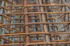 Druciana siatka betonowy dolewanie Obrazy Stock