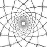 Druciana sieci tubka ornament abstrakcyjne Obraz Royalty Free