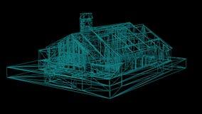 Drucianej ramy model dom royalty ilustracja