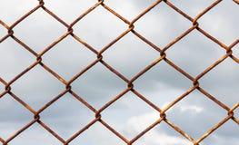 Drucianej siatki ogrodzenie Fotografia Royalty Free