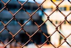 Drucianej siatki ogrodzenie Zdjęcie Stock