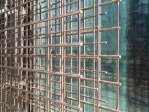 Drucianej siatki stal dla wzmacniać beton, zakończenie w górę fotografia stock
