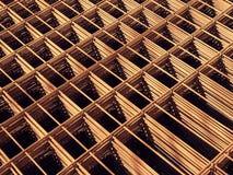 Drucianej siatki stalowi Rebars dla zbrojonego betonu zdjęcie royalty free