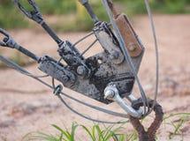 Druciany ścinek śruby kędziorka kabel zdjęcia stock