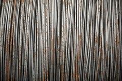 Druciany metal z korodowaniem dla armatury w zatokach Zdjęcie Stock