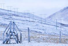 Druciany ogrodzenie gospodarstwo rolne obraz royalty free