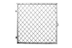Druciany ogrodzenie na białym tle Obraz Royalty Free