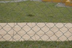 Druciany ogrodzenie przy dzieciaka parkiem Obraz Stock