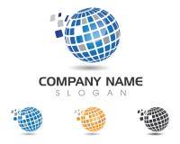 Druciany Światowy loga szablon Obrazy Stock