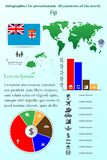 drucik Infographics dla prezentaci Wszystkie kraje świat ilustracja wektor