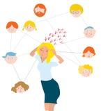 Druck über Familienmitglieder - Illustration Lizenzfreies Stockbild