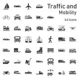 Traffic and mobility icon set. Highly detailed vector vector illustration