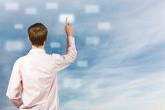 Druck auf virtuellen Tasten Lizenzfreies Stockbild