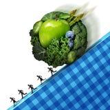 Druck der gesunden Ernährung Stockfotos