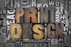 Druck-Design stockbild