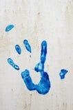 Druck einer Hand auf einer Wand Lizenzfreie Stockbilder