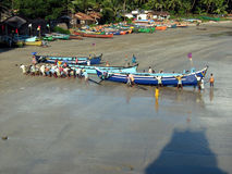 Druck eines Bootes Stockfoto