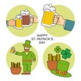 Druck eingestellt für St- Patrick` s Tag lizenzfreie abbildung