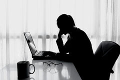 Druck im Büro stockfotos