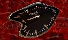 Druck im Leben ist für Gesundheit schlecht und könnte Krankheit und Krankheitsurlaub verursachen Nicht einmal kann die Uhr mehr e lizenzfreie abbildung