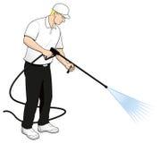 Druck-Leistung-waschende Technologie-Klipp-Kunst Stockfoto